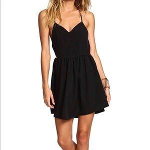 Shein Black Halter Open Back Black Dress, S